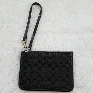 Coach Signature ID holder/Wristlet